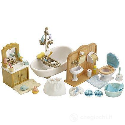 Bagno personaggi esclusi 2952 playset e bambole in miniatura sylvanian families - Bagno in miniatura ...