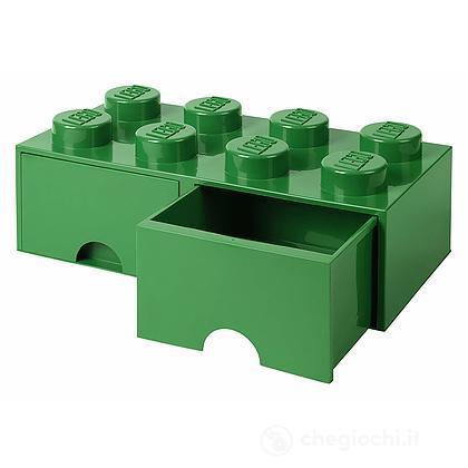 Contenitore LEGO Brick 8 Cassetto Verde