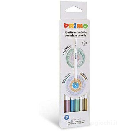 6 Pastelli Minabella Colori Metallizzati - Mina 3.8mm