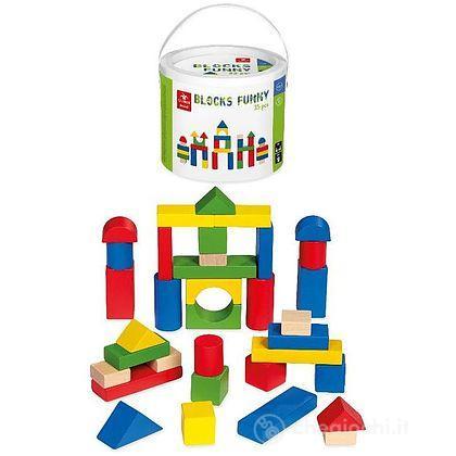 Funny Blocks Blocchi in legno 35 pezzi