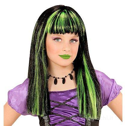 Parrucca Strega meches verdi. Taglia Unica - Parrucche - Widmann ... 0a567686af29