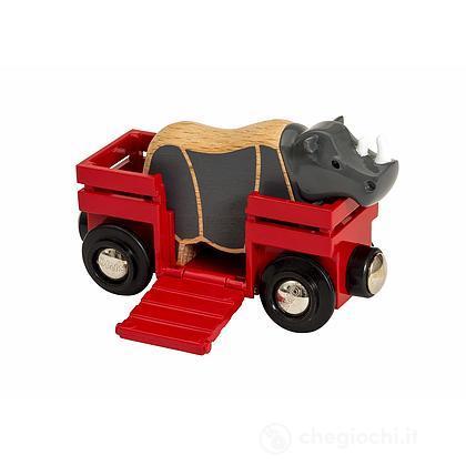 Brio Vagone con rinoceronte (33968)