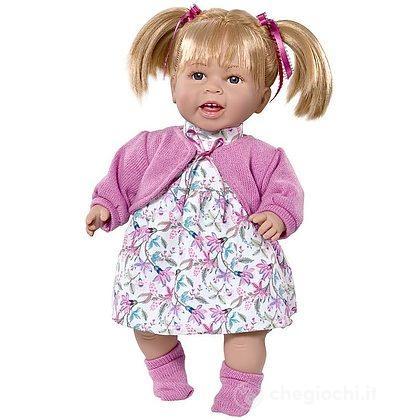 Berni Bambola Parlante 38 cm Con Giacchino Rosa
