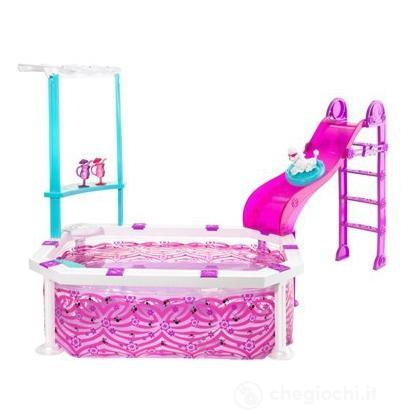 La piscina glam r4206 casa delle bambole e accessori for Piscina di barbie