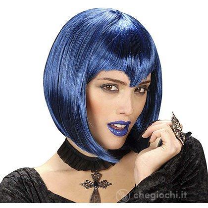 Parrucca Gothic Vamp Blu