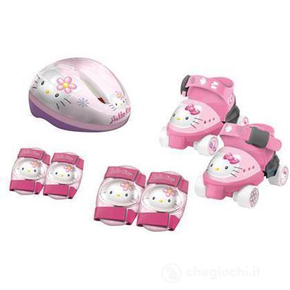 Set pattini e protezioni per bambini Hello Kitty (18982)