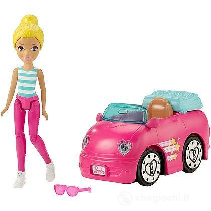 Barbie Parti e Via + veicolo auto (FHV77)