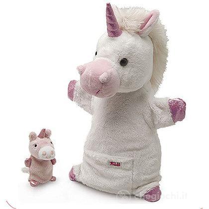 Marionetta Unicorno con cucciolo 29988 - Peluche - Trudi