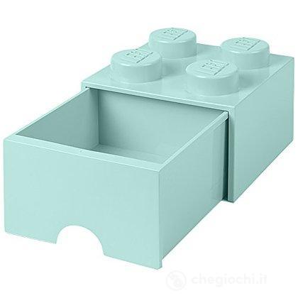 Contenitore LEGO Brick 4 Cassetto Azzuro