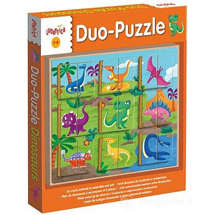 Legno Puzzle-Duo Dinosaurs